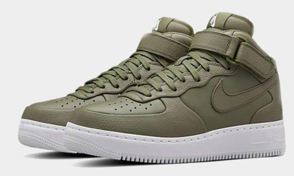 Фото Nike Lab Air Force 1 Mid зеленые - 1